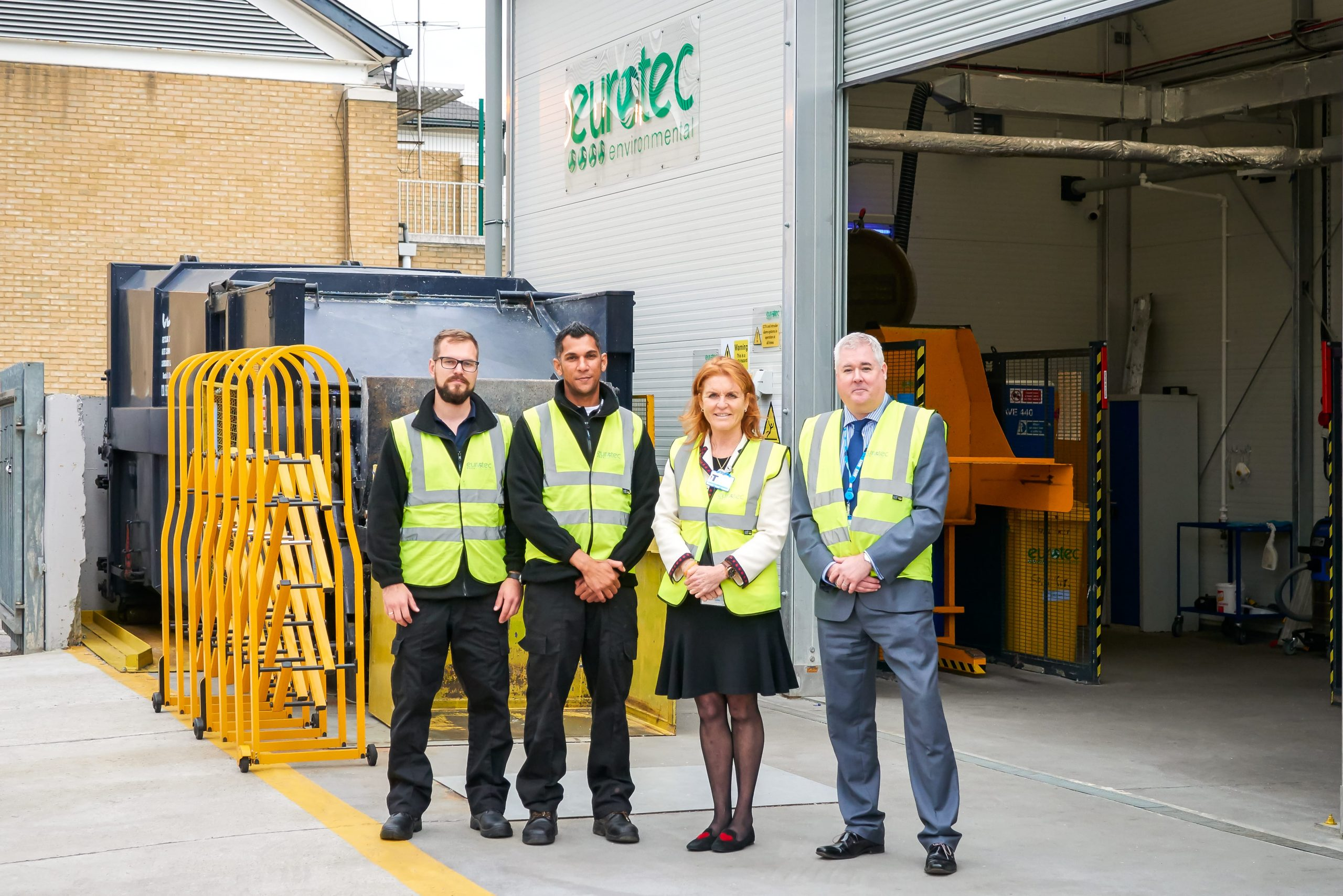 THE DUCHESS OF YORK ENJOYS A DAY WITH EUROTEC ENVIRONMENTAL