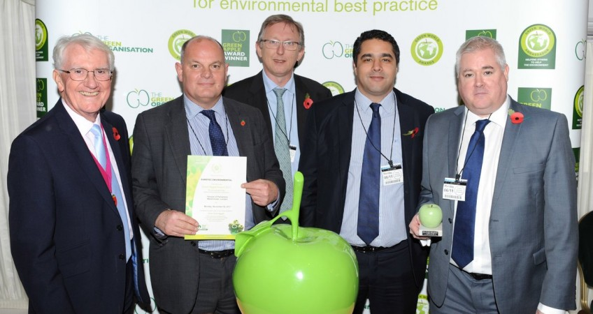 Eurotec Environmental wins 2017 Green Apple Environmental Services Award