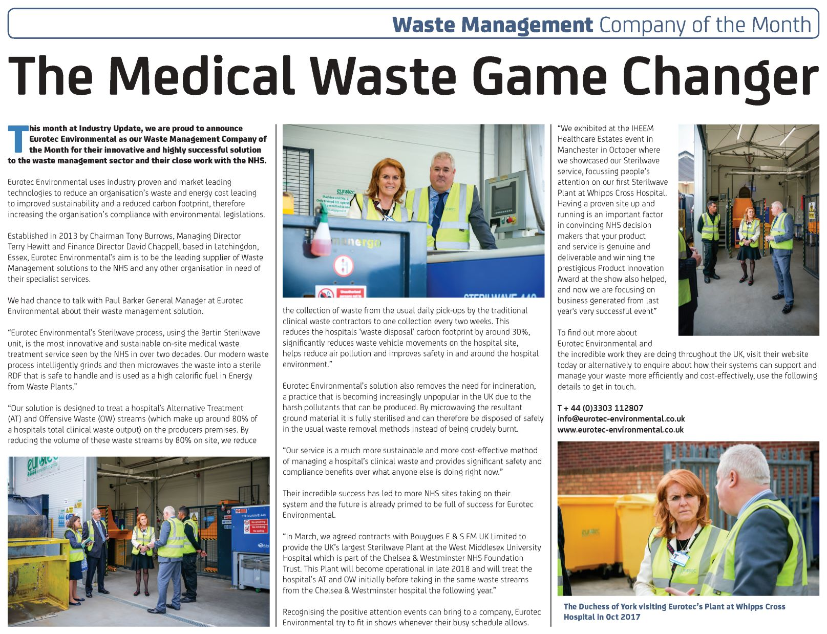 Eurotec Environmental – Industry Update's Waste Management Company of the Month